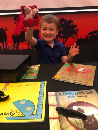 Louis loved the interactive story props